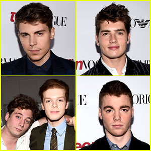 Nolan Gerard Funk & Cameron Monaghan Are Dapper Dudes at 'Teen Vogue' Young Hollywood Party