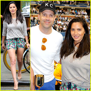Olivia Munn & Jason Sudeikis Check Out the US Open Finals