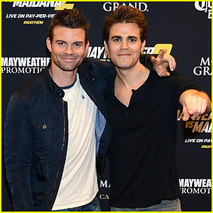 Paul Wesley & Daniel Gillies Bring Bromance to Boxing Match