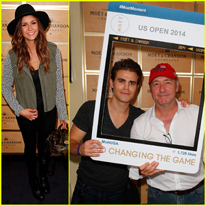 Paul Wesley & Nina Dobrev Hit the U.S. Open with Sophia Bush