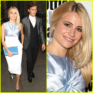 Pixie Lott & Oliver Cheshire Are a Picture Perfect Couple at the Scottish Fashion Awards!