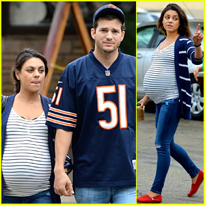 Pregnant Mila Kunis & Ashton Kutcher Are Expecting Baby Any Day Now