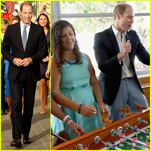 Prince William Plays Foosball  & Video Games with Kids in Malta