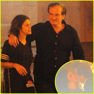 Quentin Tarantino Kisses Vanessa Ferlito - See the PDA Packed Pics!