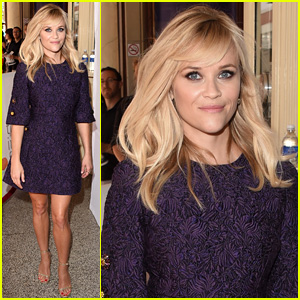 Reese Witherspoon Impresses in Purple at 'Good Lie' Premiere