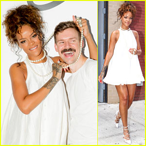 Rihanna Supports Her Pal Adam Selman at His NYFW Show!