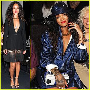 Rihanna Takes the Plunge at Altuzarra & Alexander Wang Fashion Shows