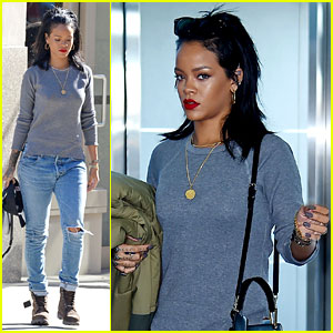 Rihanna Leaves New York After Several Weeks In Town