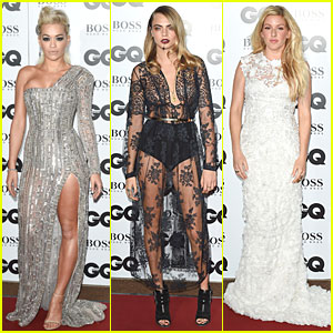Rita Ora & Cara Delevingne Flaunt Their Long Legs at GQ Men of the Year Awards 2014