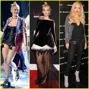 Rita Ora Looks Super Hot in Leather at Fashion Rocks 2014
