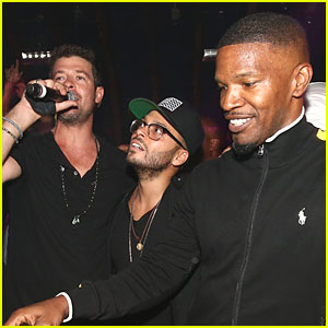Robin Thicke & Jamie Foxx Party It Up For Richie Akiva's Birthday!