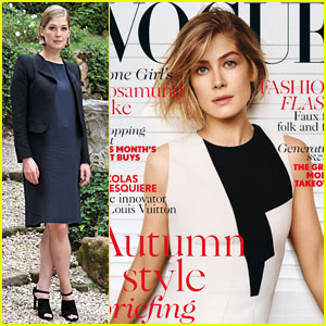 Rosamund Pike Covers 'Vogue UK' For the First Time!