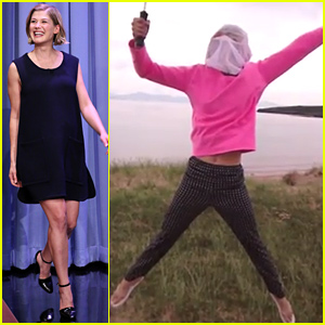 Rosamund Pike Was Wearing a Full Bug Mask When She Found Out She Booked 'Gone Girl' - See the Hilarious Pic!