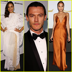 Rosario Dawson, Luke Evans, & Ashley Madekwe Support amfAR's Important Cause in Milan