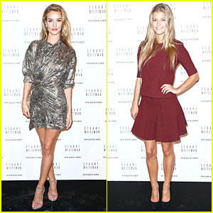Rosie Huntington-Whiteley & Nina Agdal Have Legs For Days at Stuart Weitzman Cocktail Party