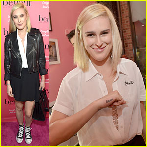 Rumer Willis Gets Sauce Tattoo at Benefit Cosmetics Event