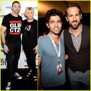 Ryan Reynolds & Hugh Jackman Make Us Swoon at Global Citizen Festival 2014