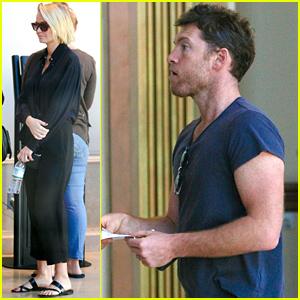 Sam Worthington & Lara Bingle Go On a Movie Date After Pregnancy News is Revealed!