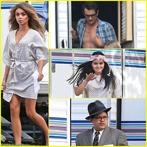 Sarah Hyland & Ty Burrell Get Ready for the 'Modern Family' Halloween Episode