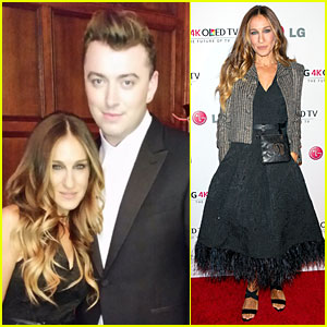 Sarah Jessica Parker Meets Sam Smith at Art Of The Pixel Gala