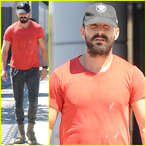 Shia LaBeouf Is Spelling Something Out with His Daily Runs