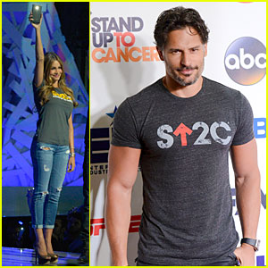 Sofia Vergara & Joe Manganiello Make It Hot at Stand Up to Cancer 2014