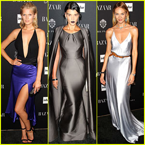 Toni Garrn & Candice Swanepoel Have Model Moments at Harper's Bazaar's Icons Party