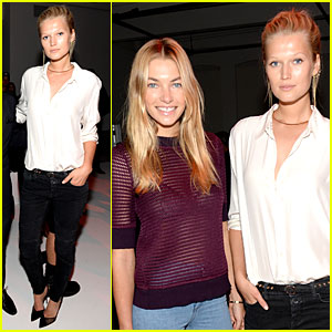 Victoria's Secret Models Toni Garrn & Jessica Hart Bring Beauty to Porsche Design Fashion Shows