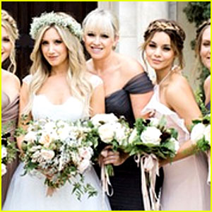 Vanessa Hudgens Was One of Ashley Tisdale's Bridesmaids - See the Photo!