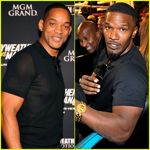 Will Smith & Jamie Foxx Party with Showtime at Vegas Fight