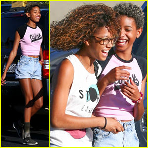 Willow Smith Gets into a Serious Laughing Fit at Lunch