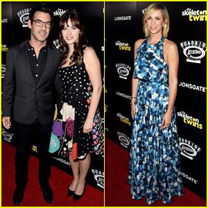 Zooey Deschanel & Boyfriend Jacob Support Kristen Wiig at 'The Skeleton Twins' Premiere!