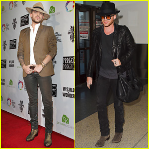 Adam Lambert Is 'Town & Country' Chic for Marco Marco Collection Three Runway Show!
