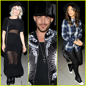 Adam Lambert & Lots of Other Celebs Watch Sam Smith Sing Live in Concert!