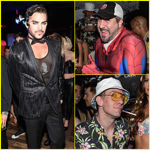 Adam Lambert Brings the Entertainment to Matthew Morrison's Halloween Party
