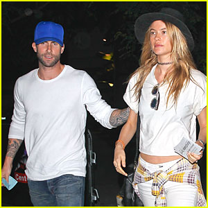 Adam Levine & Wife Behati Prinsloo Enjoy Date Night at Lakers Game
