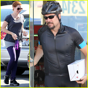 Alyson Hannigan & Alexis Denisof Are a Cynergy Cycles Couple!