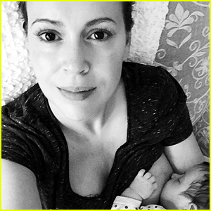 Alyssa Milano Shares Breastfeeding Photo with Newborn Daughter Elizabella