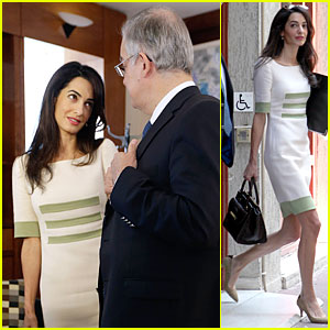 Amal Clooney Discusses Parthenon Marbles During Meeting in Athens