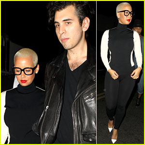 Amber Rose Grinds Up on Nick Simmons, Leaves Club with Him