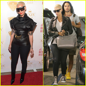 Amber Rose Is Blacked Out As XXIV Karat Launch Party Hostess!