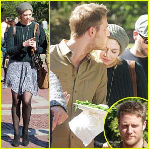 Analeigh Tipton Gets Sweet Forehead Kiss From Boyfriend Jake McDornan on 'Manhattan Love Story' Set