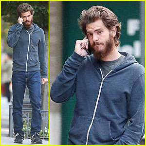 Andrew Garfield Picks Up Important Call in the West Village
