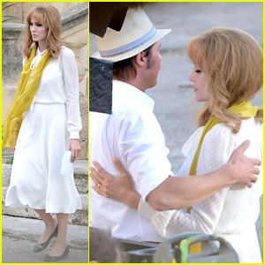Angelina Jolie Goes Blonde, Embraces Brad Pitt for 'By the Sea'