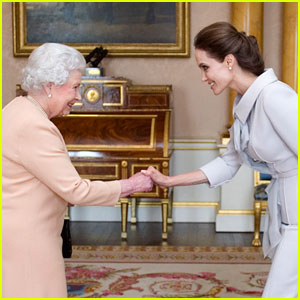 Angelina Jolie Meets the Queen of England & Officially Becomes an Honorary Dame