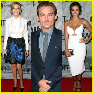 Anna Gunn & Kevin Zegers Join Co-Stars at 'Gracepoint' Screening Ahead of Premiere Date!