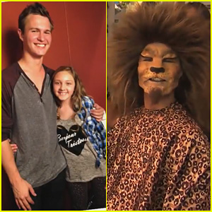 Ansel Elgort Pranks Jimmy Kimmel's Niece in a Full Tiger Disguise - Watch the Hilarious Clip!