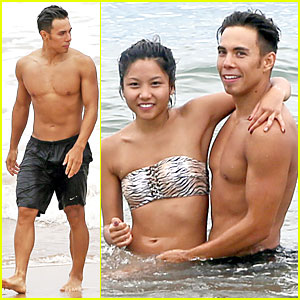 Apolo Ohno Goes Shirtless During Maui Vacation with Mystery Girlfriend