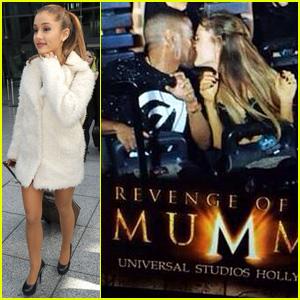 Ariana Grande & Big Sean Caught Kissing on Roller Coaster!
