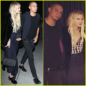 Ashlee Simpson & Evan Ross Wear Coordinating Outfits at Elton John Concert